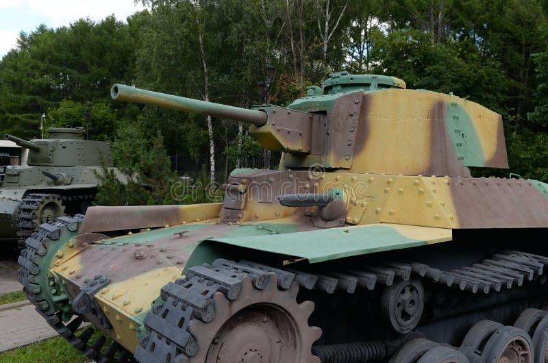 Японский тип 97 Shinhoto Хи-ha среднего танка в музее военного оборудования на холме Poklonnaya в Москве стоковое фото