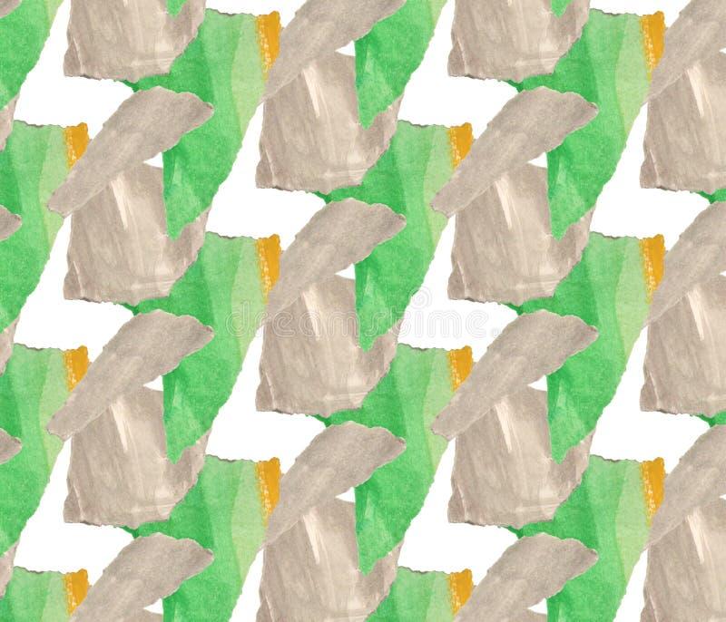 Яркая, абстрактная безшовная картина сделанная с сорванной покрашенной бумагой стоковые изображения rf