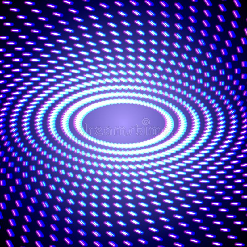 Яркий сияющий неон выравнивает предпосылку с короткими кругами ходов бесплатная иллюстрация