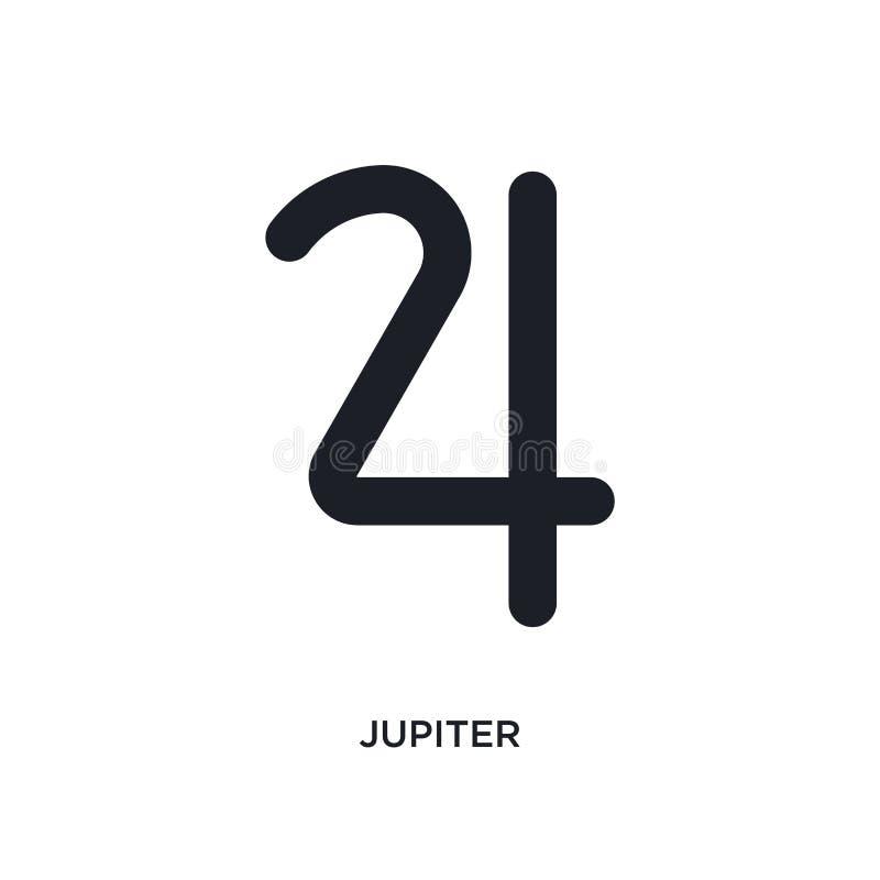 Юпитер изолировал значок простая иллюстрация элемента от значков концепции зодиака дизайн символа знака логотипа Юпитера editable иллюстрация штока