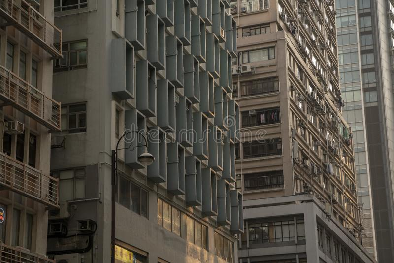 Угловой взгляд зданий стоковые изображения
