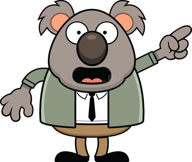 Указывать медведя коалы мультфильма стоковые изображения