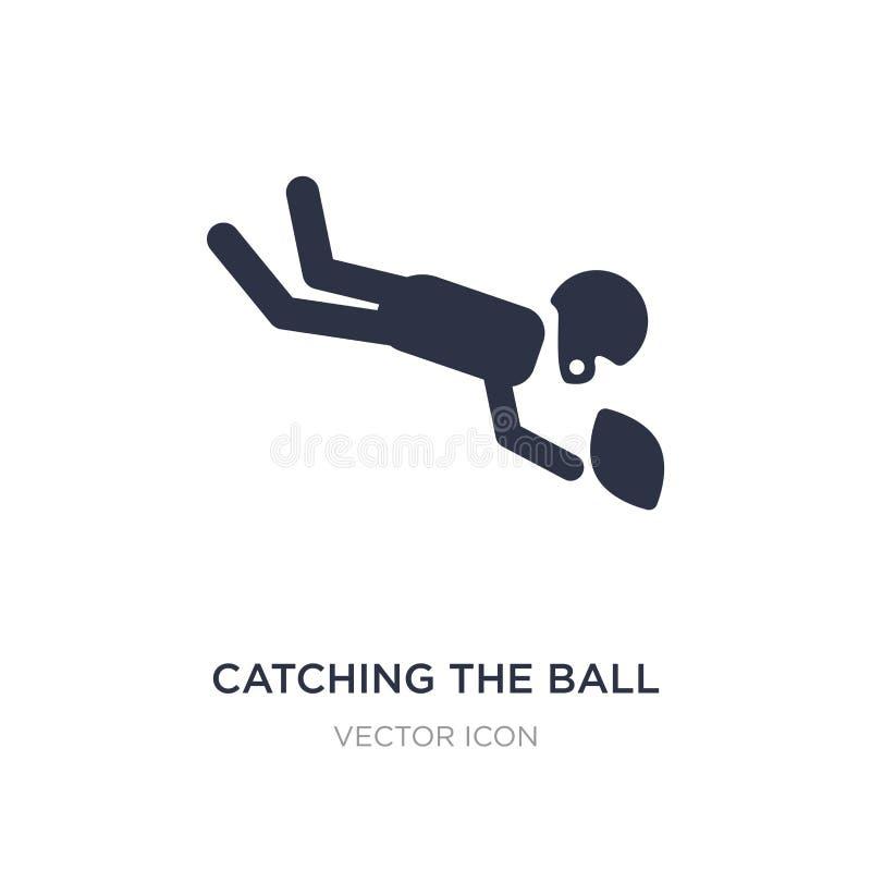 улавливать значок шарика на белой предпосылке Простая иллюстрация элемента от концепции американского футбола иллюстрация вектора