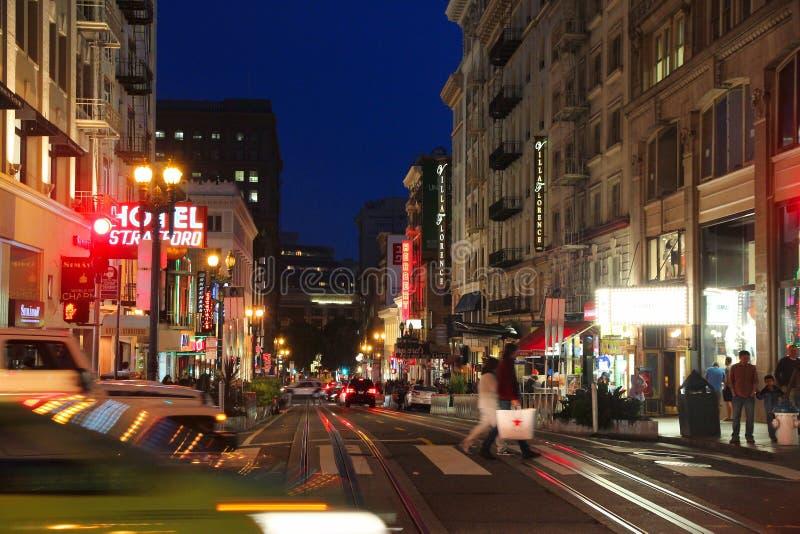 Улица Пауэлл, Сан-Франциско стоковые изображения