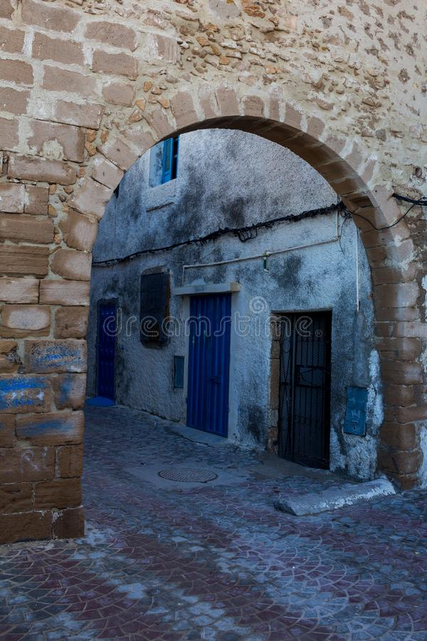 Улица старого города в Safi, Марокко стоковое фото rf