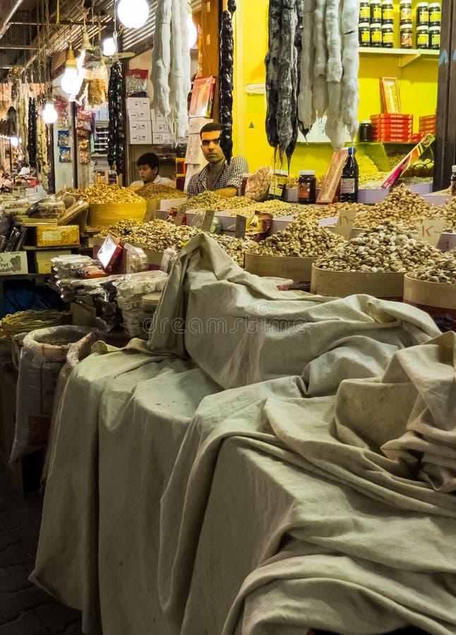 Уличный рынок в городе Erbil в иракском Курдистане Июль 2013 стоковые изображения rf