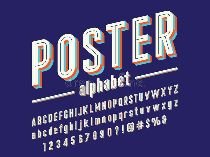 Ультрамодный шрифт бесплатная иллюстрация