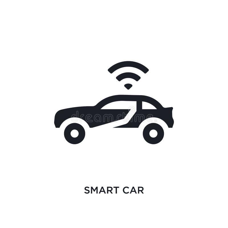 умным значок изолированный автомобилем простая иллюстрация элемента от программируя значков концепции дизайн символа знака логоти бесплатная иллюстрация
