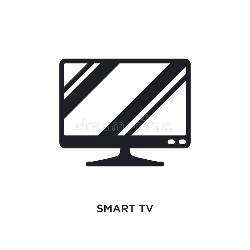 умное ТВ изолировало значок простая иллюстрация элемента от значков концепции электронных устройств умный символ знака логотипа Т бесплатная иллюстрация