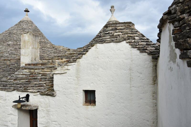 Уникальные дома Trulli Alberobello стоковая фотография rf