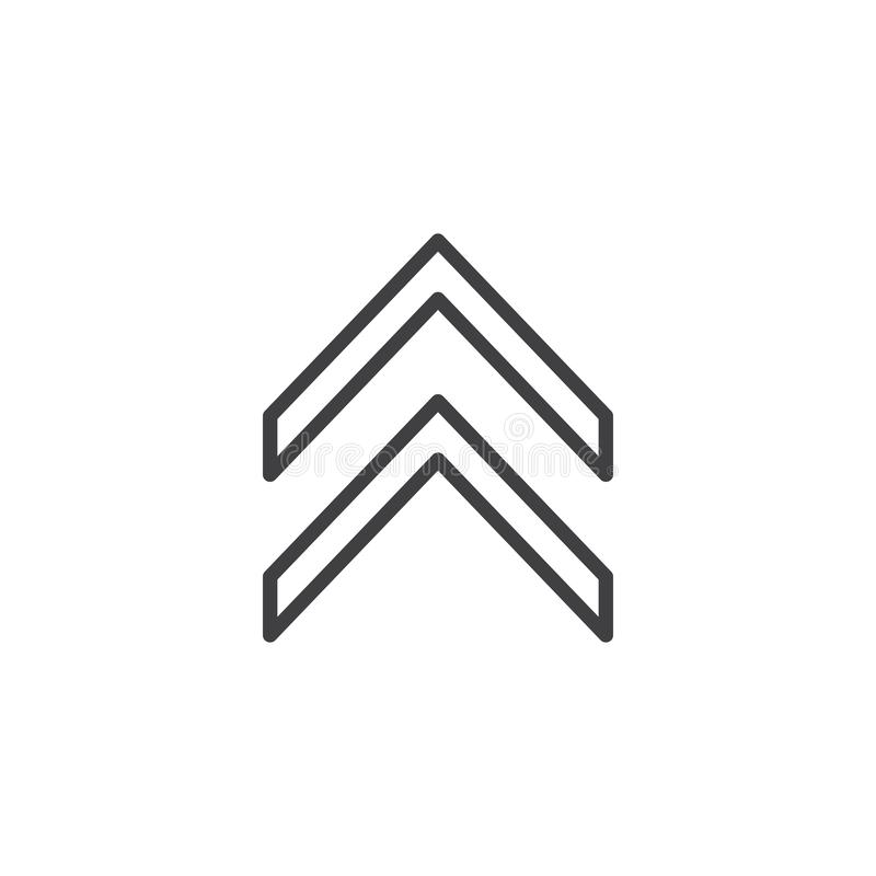 Удвойте вверх линию значок стрелки бесплатная иллюстрация