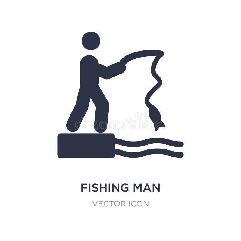 удить значок человека на белой предпосылке Простая иллюстрация элемента от концепции спорт бесплатная иллюстрация