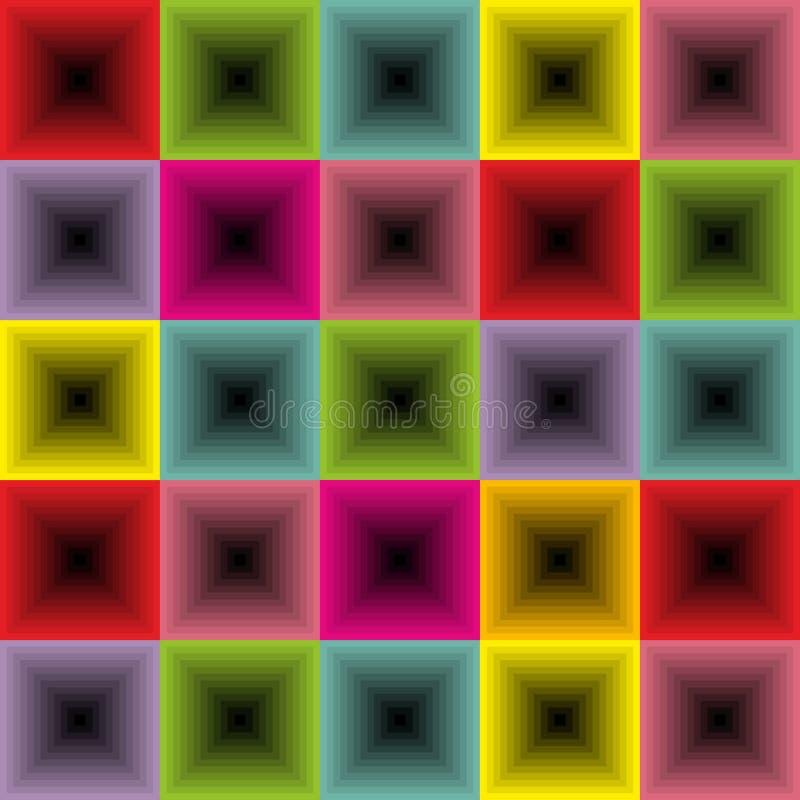Установите красочной ретро предпосылки с квадратами бесплатная иллюстрация