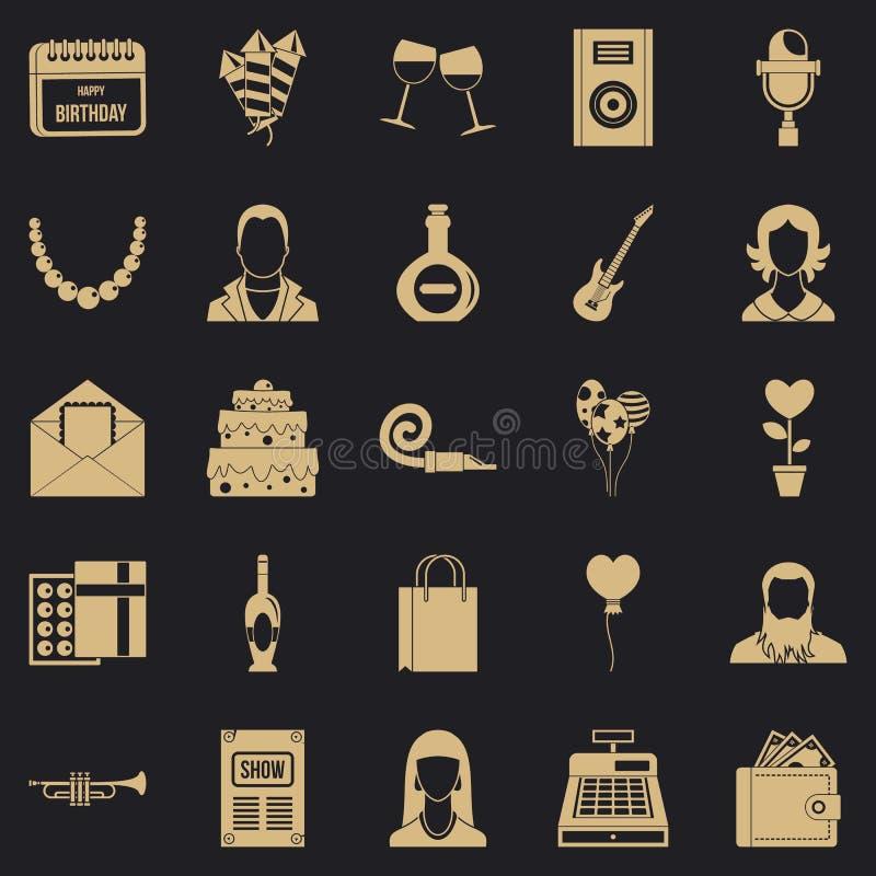 Установленные значки, простой стиль Discotheque бесплатная иллюстрация