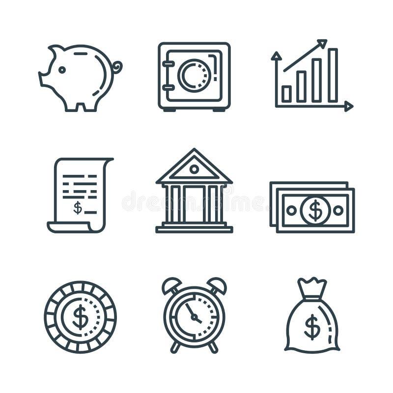 Установленные отчет о сервисного налога и баланс финансов бесплатная иллюстрация