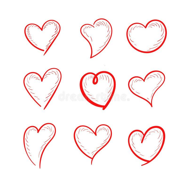 Установленный дизайн иллюстрации любов бесплатная иллюстрация