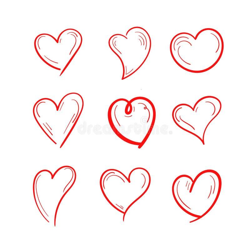 Установленный дизайн иллюстрации любов иллюстрация вектора