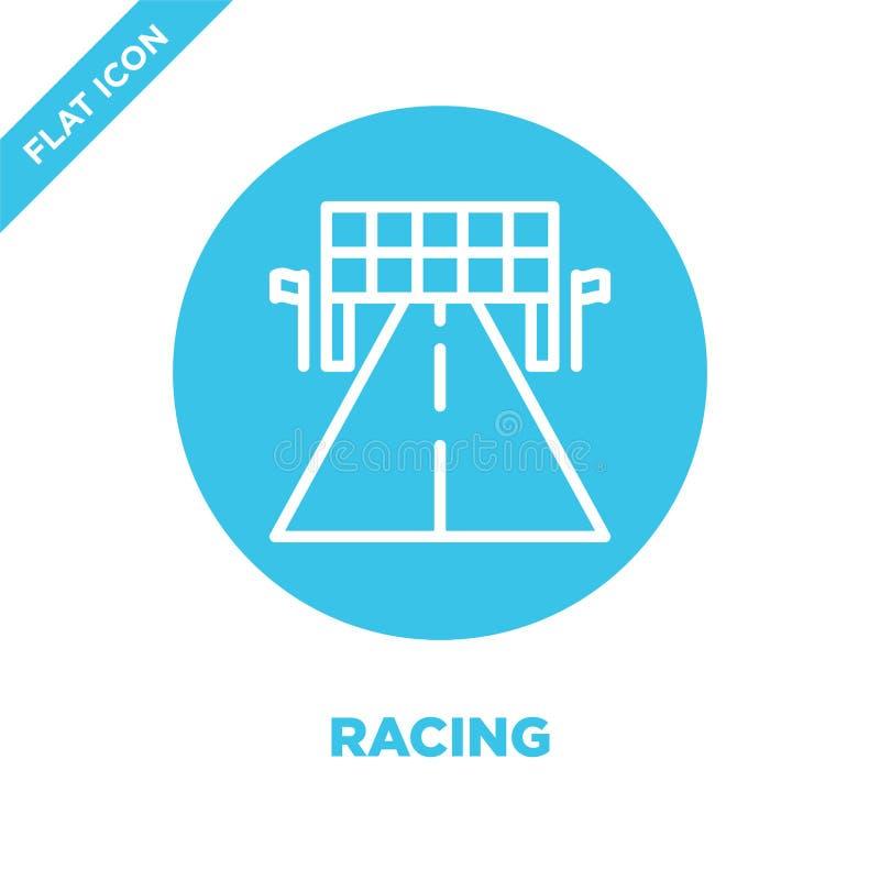 участвовать в гонке вектор значка Тонкая линия участвуя в гонке иллюстрация вектора значка плана участвовать в гонке символ для п бесплатная иллюстрация