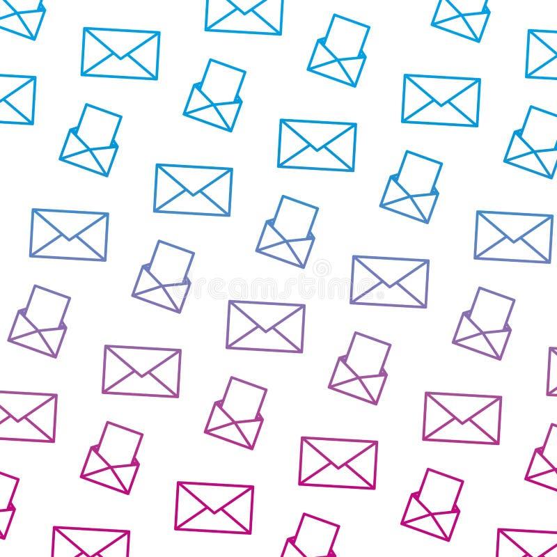 Ухудшенная линия предпосылка сообщения документа связи электронной почты иллюстрация штока