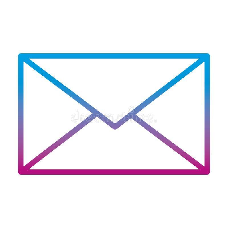 Ухудшенная линия стиль технологии сообщения связи электронной почты бесплатная иллюстрация