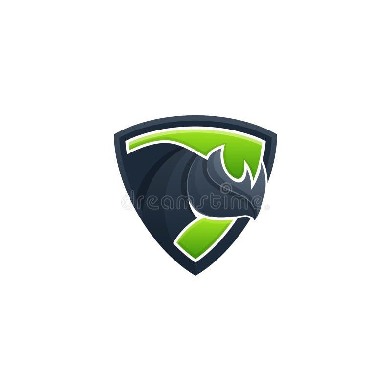 Шаблон вектора иллюстрации концепции экрана носорога бесплатная иллюстрация