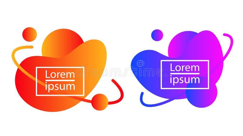 Шаблон набора цвета абстрактного пузыря градиента современный иллюстрация штока