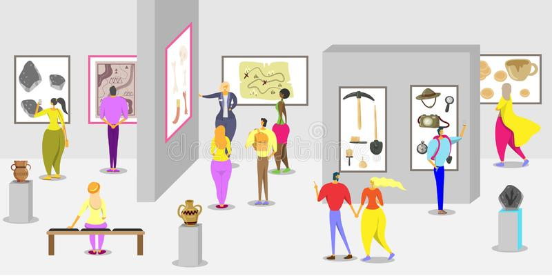 Шаблон дизайна знамени плаката вектора музея истории иллюстрация штока