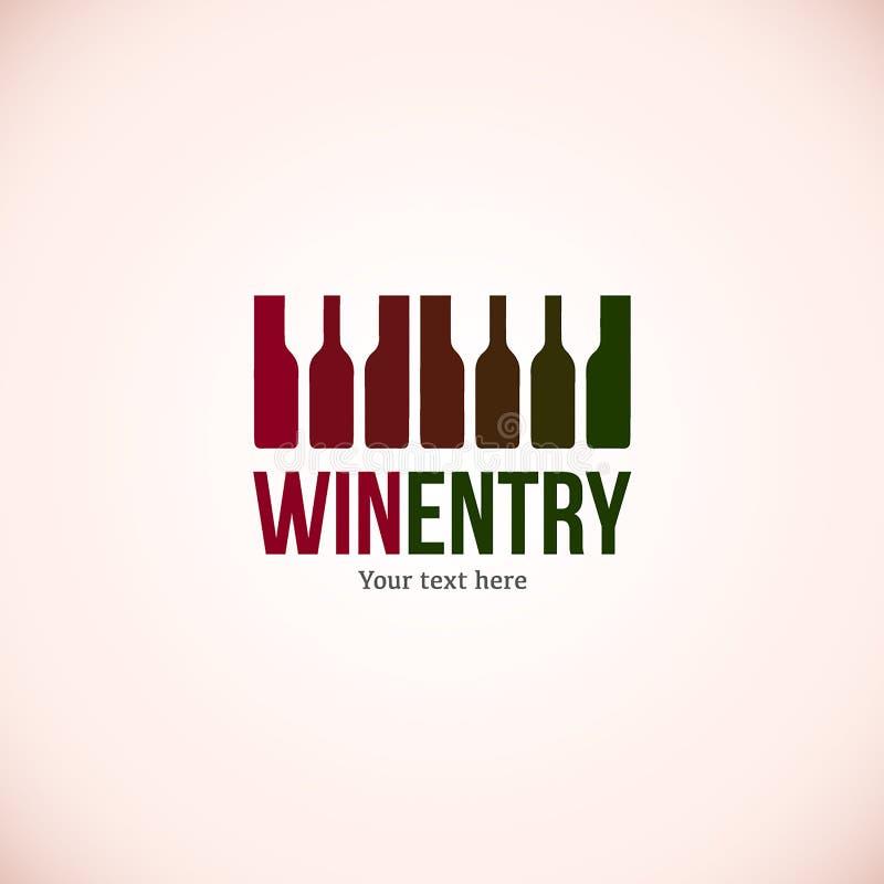 Шаблон дизайна логотипа вина Иллюстрация значка вектора рюмки Дегустация degustation вина иллюстрация штока