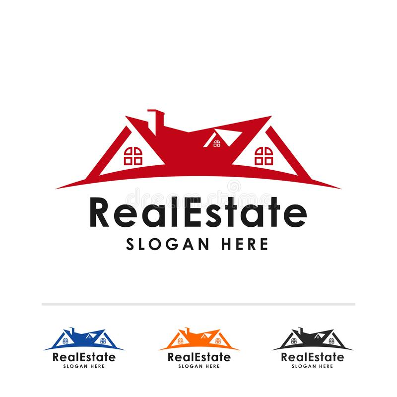 Шаблон дизайна логотипа недвижимости домашняя иллюстрация символа значка вектора бесплатная иллюстрация