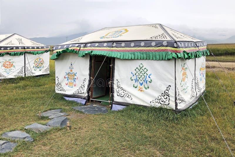 Шатер Yurt Хижина кочевника монгольская стоковые фотографии rf