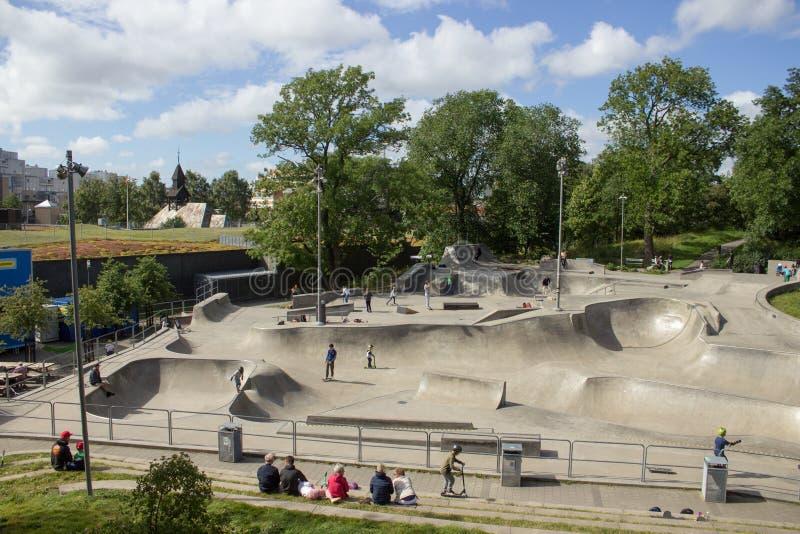 Швеция, Гётеборг, Skatepark стоковые изображения rf