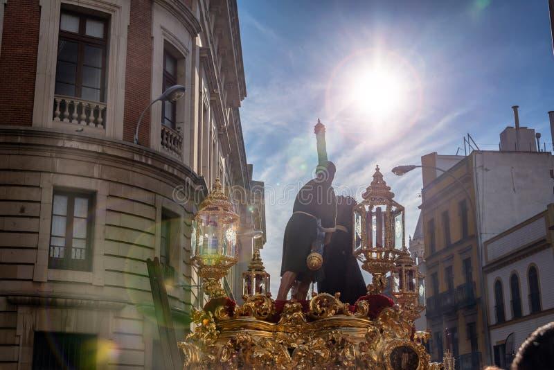 Шествие святой недели в Севилье, Испании стоковые фото