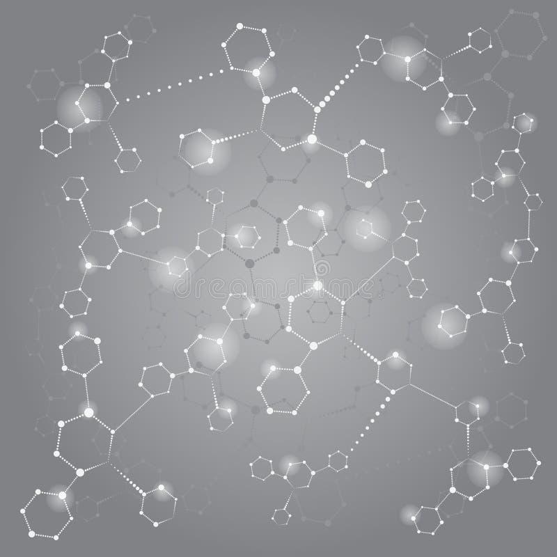 Шестиугольник кругов абстрактная предпосылка голубой вектор неба радуги изображения облака иллюстрация вектора
