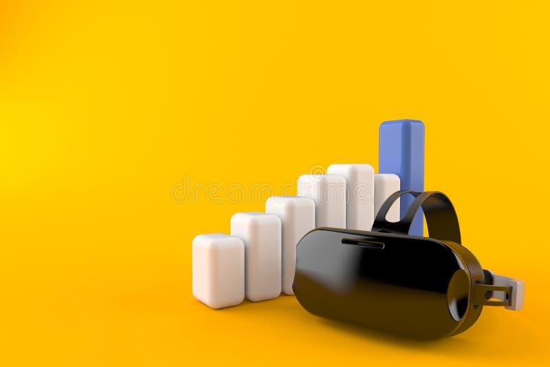 Шлемофон VR с диаграммой иллюстрация штока