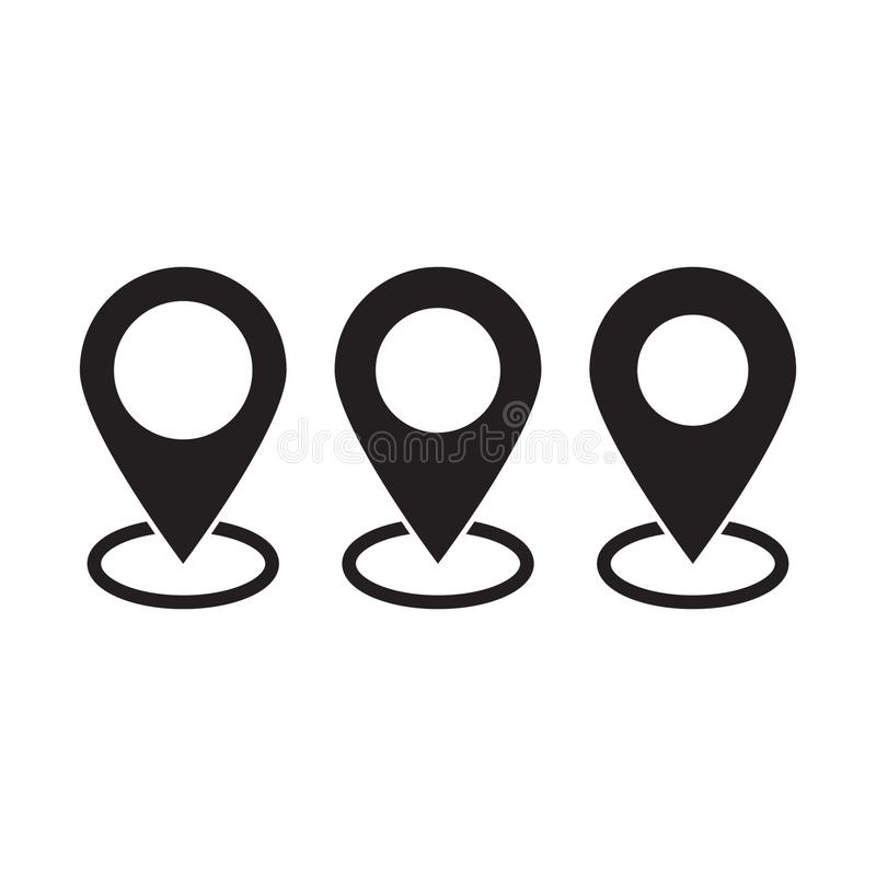 Штырь карт Значок карты положения иллюстрация штока