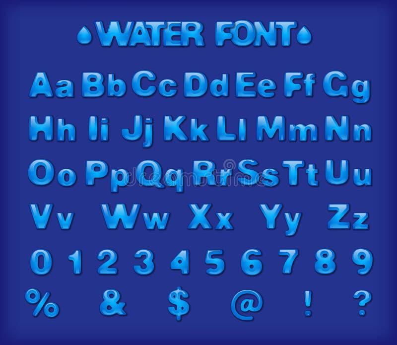 Шрифт открытого моря бесплатная иллюстрация