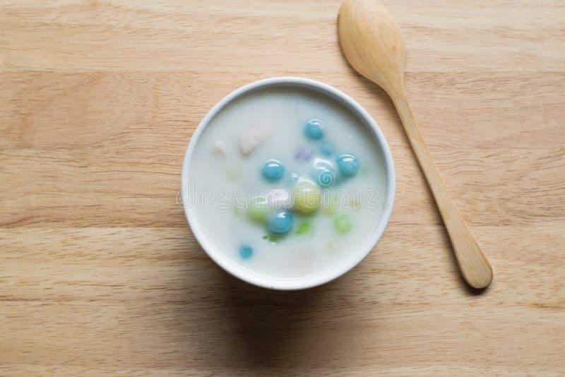 Тайский традиционный или тайский десерт стоковое изображение