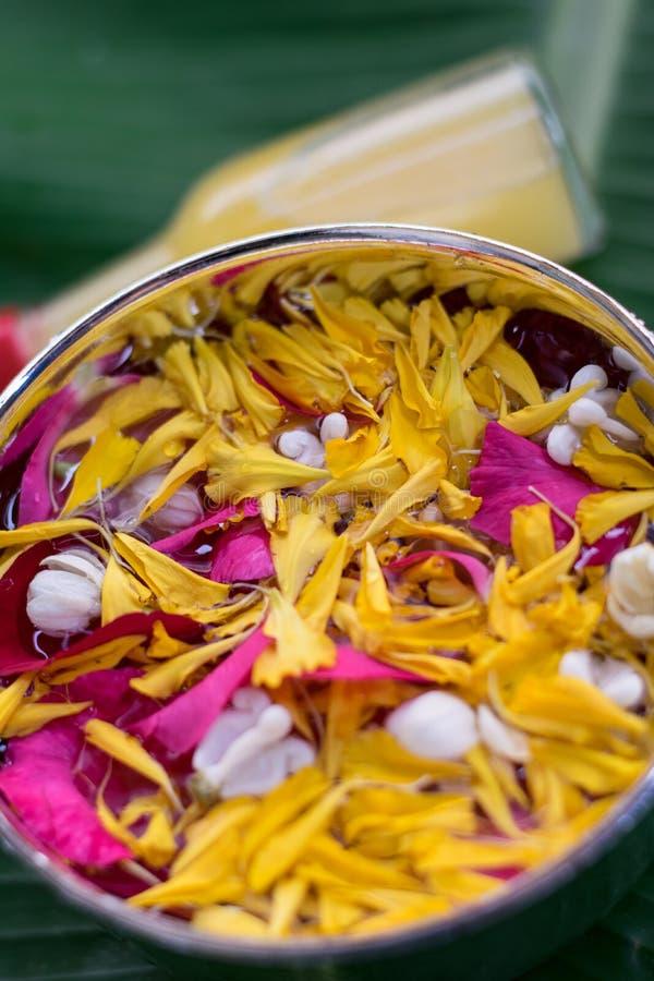 Тайское традиционное для фестиваля Songkran стоковые фотографии rf