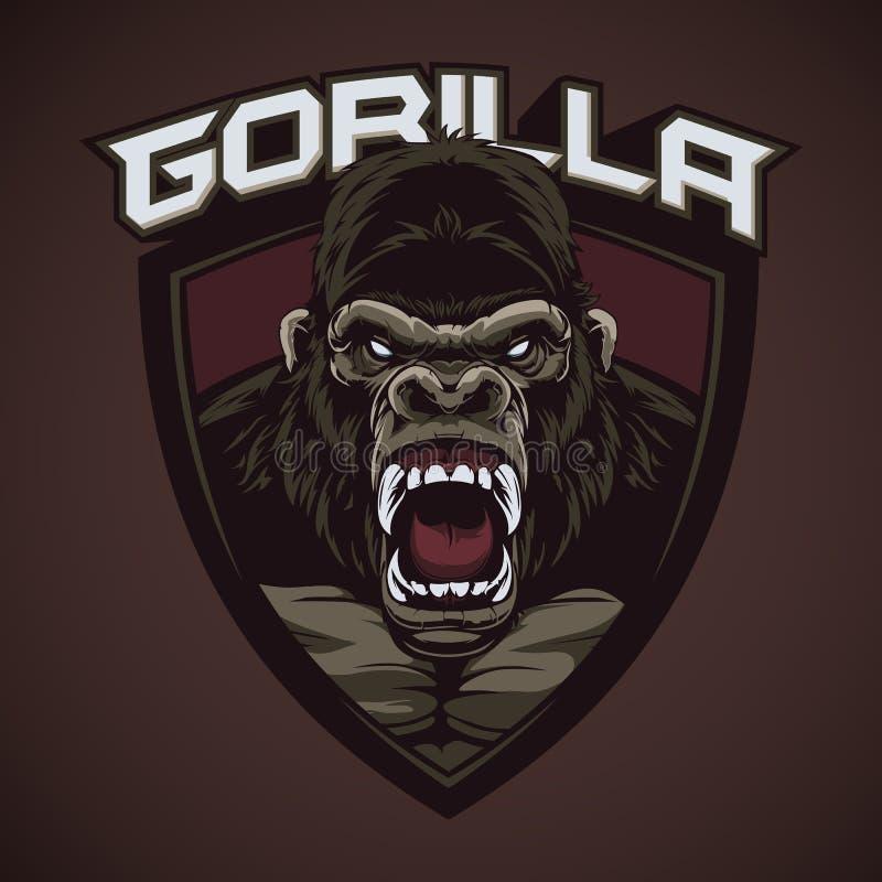 Талисман горилл клекота иллюстрация вектора