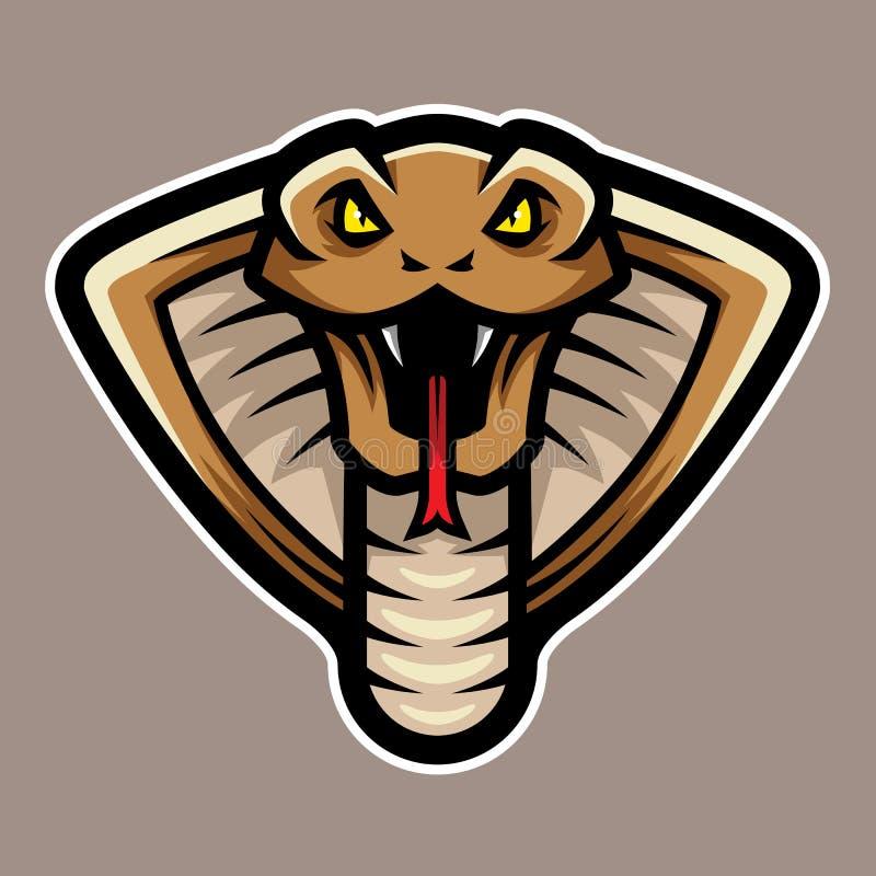 Талисман логотипа змейки кобры главный иллюстрация вектора