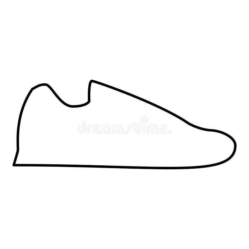 Тапки идущих ботинок резвятся изображение стиля иллюстрации вектора плана цвета черноты значка ботинка бега ботинок плоское иллюстрация вектора