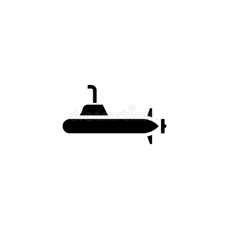 Твердое тело значка подводной лодки запас значка корабля и транспорта иллюстрация штока