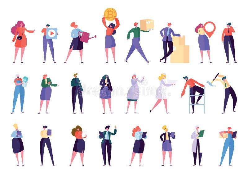 Творческий различный профессиональный набор символов бесплатная иллюстрация