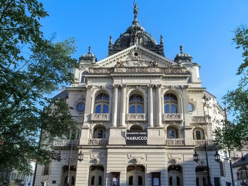 Театр Kosice государства, конец-вверх стоковое изображение