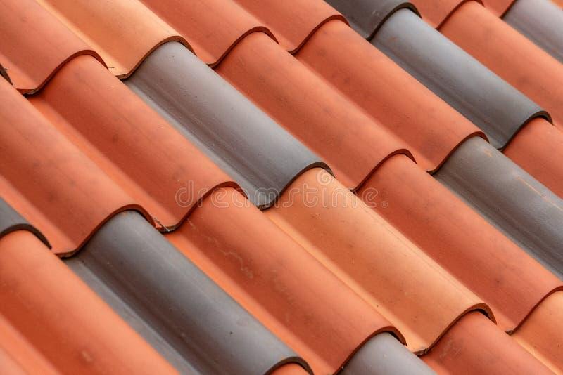 Текстура крыши плитки глины стоковое фото rf
