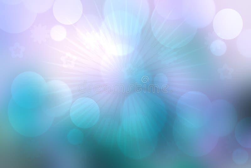 Текстура предпосылки абстрактного фиолета фрактали голубая элегантная с лучами света Жидкое образование завихрения и галактики По иллюстрация штока
