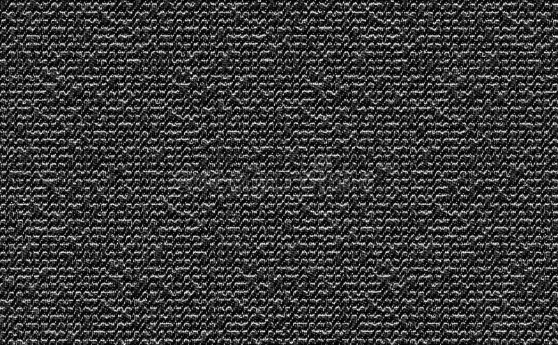 Текстура ткани цвета крупного плана черно-белая Линия прокладки чернота или серебряный дизайн картины ткани цвета или backgr драп стоковые фотографии rf