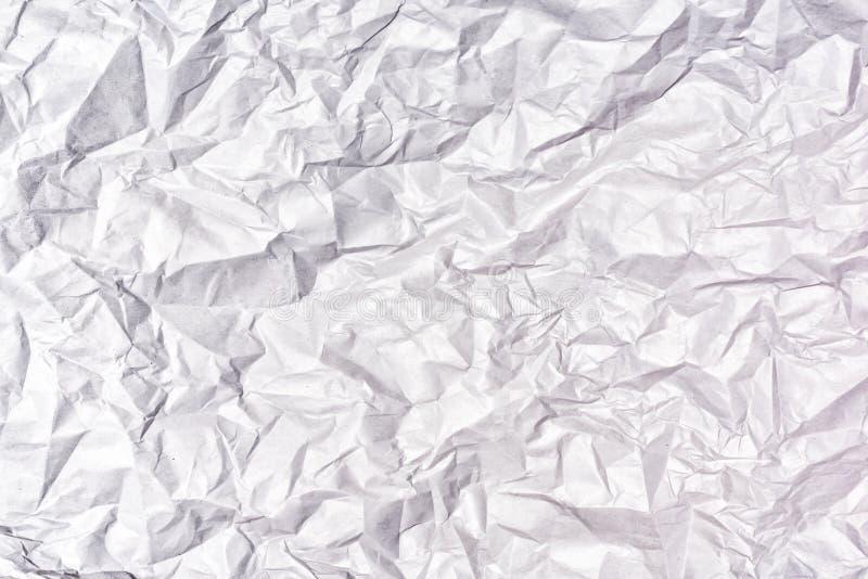 Текстура тяжело скомканной серой бумаги предпосылка пустая стоковое изображение rf