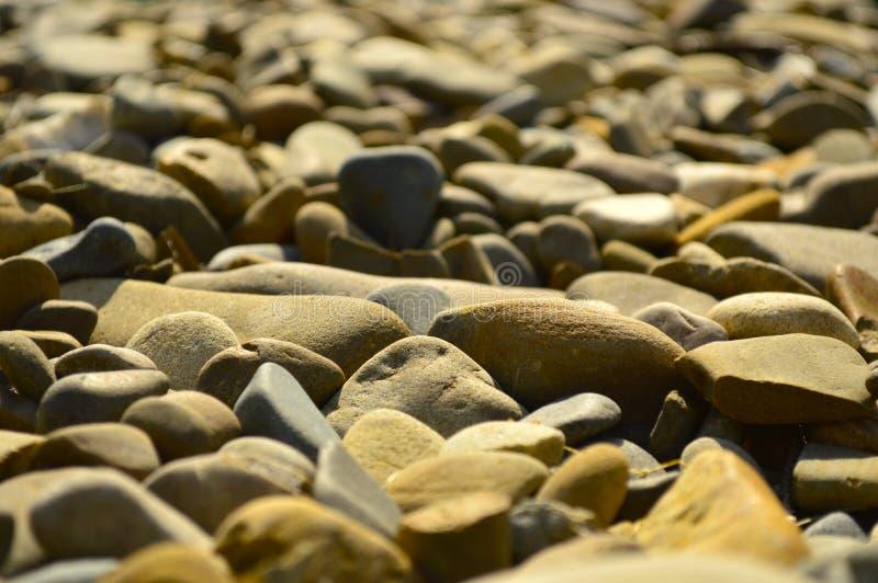 Текстурированные камни моря закрывают вверх стоковые изображения