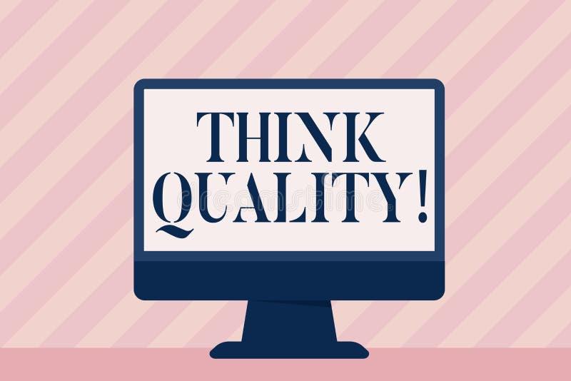 Текст почерка думает качество Смысл концепции думая идей новаторских ценных решений успешных бесплатная иллюстрация